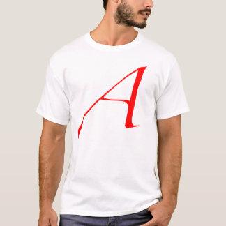 Scharlachrot Buchstabe A (für Atheisten) T-Shirt