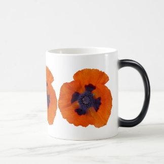 Scharlachrot der orange Mohnblumen-1 Verwandlungstasse