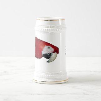 Scharlachrot Macaw- Bierglas