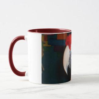 Scharlachrot Macaw-Profil-Ansicht- Tasse