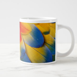 Scharlachrot Macaw-Versteck-Feder- Jumbo-Tasse