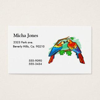 Scharlachrot Macaws- Visitenkarte