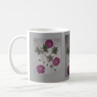 Scharlachrot Pelargonie- Kaffeetasse