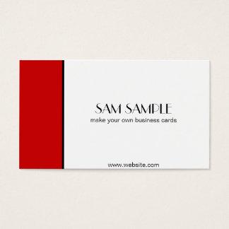 Scharlachrot Rot- Visitenkarte