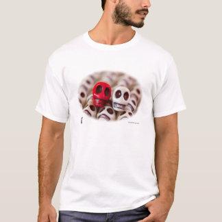 Scharlachrot und Creme T-Shirt