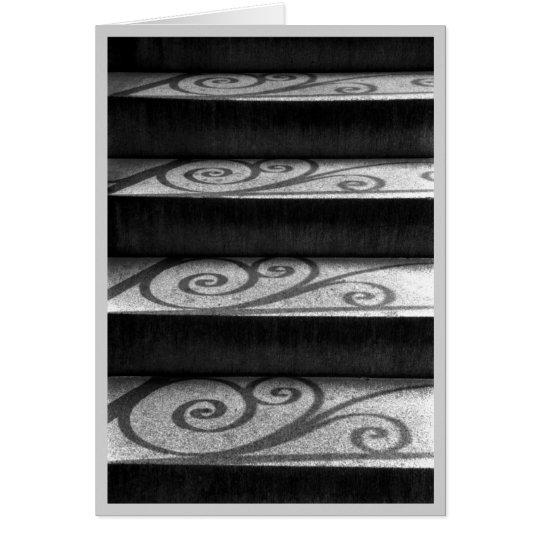 Schatten auf Treppe Karte