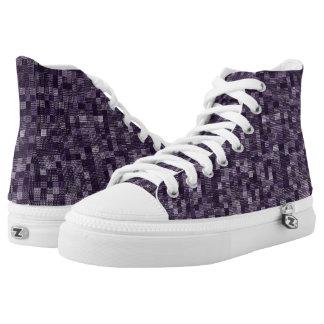Schatten der Aubergine Hoch-geschnittene Sneaker