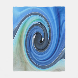 Schatten der blauen Strudel-Entwurfs-Fleece-Decke Fleecedecke