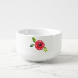 Schatten der Rosa gemalten Suppen-Schüssel der Große Suppentasse