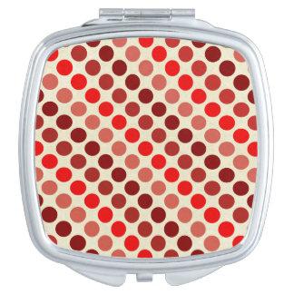 Schatten der roten Tupfen Taschenspiegel