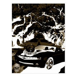 Schatten des Autokürbises n Postkarte