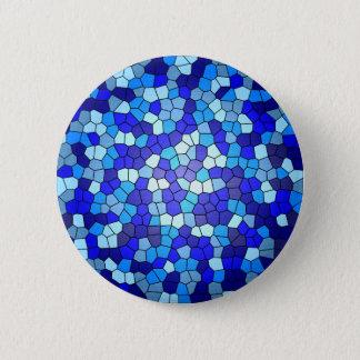 Schatten des blauen Buntglases durch Shirley Runder Button 5,7 Cm