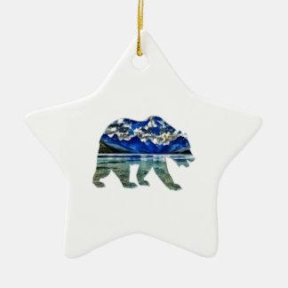 Schatten des Blaus Keramik Stern-Ornament
