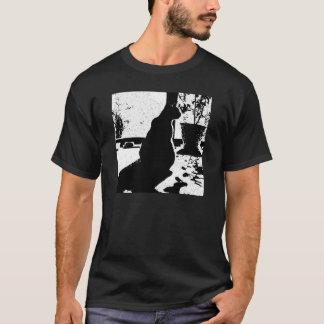 Schatten-Katzen-Shirt T-Shirt