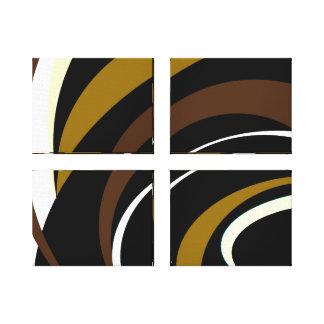 Schatten von Brown-Entwurf Leinwanddruck