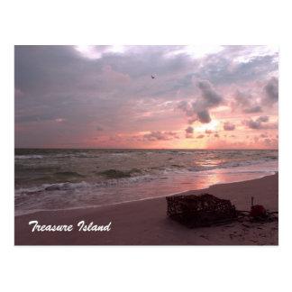 Schatz-Insel, Florida Postkarte