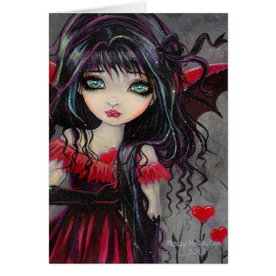Schatz-Vampirs-feenhafte Valentinsgruß-Kunst Grußkarte