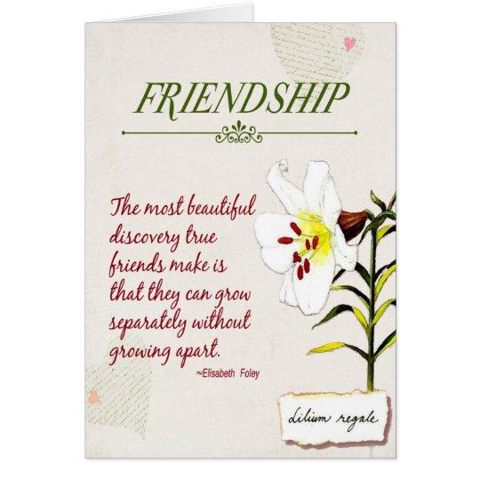 Schätzen Sie unsere Freundschaftsgedicht Karte