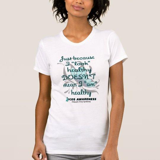 """""""Schauen Sie"""" gesund/Schmetterling… PCOS T-Shirt"""