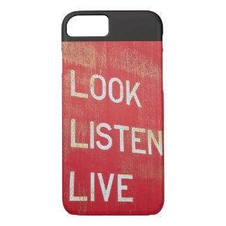 Schauen Sie. Hören Sie. Leben Sie iPhone 8/7 Hülle