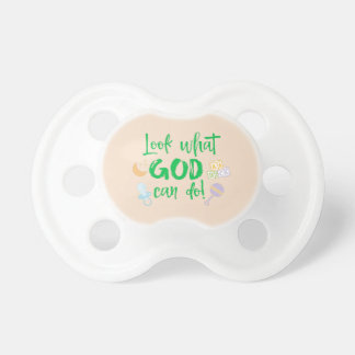 Schauen Sie, was Gott Zitat tun kann Schnuller
