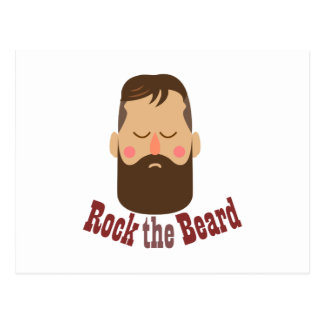 Schaukeln Sie den Bart Postkarte