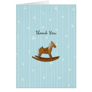 Schaukelpferd-Babyparty danken Ihnen Karte