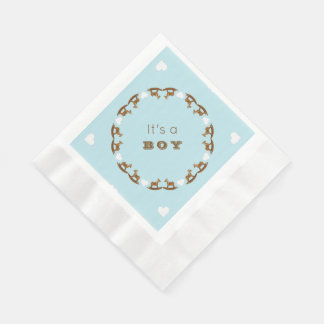 Schaukelpferd-Babyparty seine ein Serviette