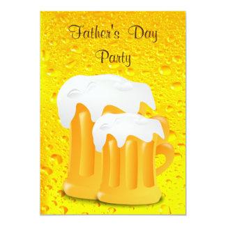 Schaumiges der Vatertags-Party Bier-Tassen- 12,7 X 17,8 Cm Einladungskarte
