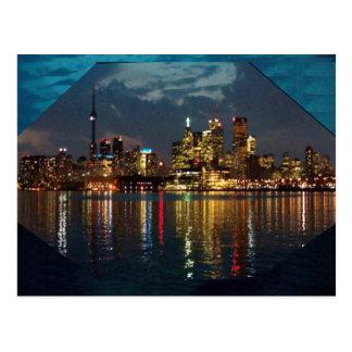 Schauspiel Torontos im Stadtzentrum gelegener Postkarte