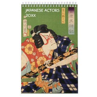 Schauspieler alter Japan-Sammlung (japanische Kalender