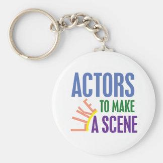 Schauspieler mögen eine Szene machen Schlüsselanhänger