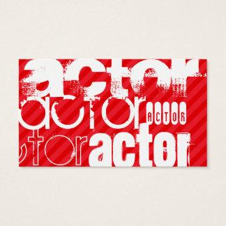 Schauspieler; Scharlachrot Rot-Streifen- Visitenkarte