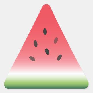 Scheibe der Wassermelone-Aufkleber Dreieckiger Aufkleber