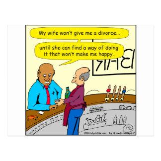 Scheidung 853 macht mich glücklichen Cartoon Postkarte