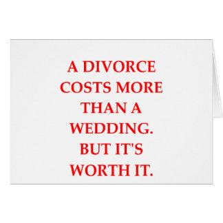 Scheidung Karte