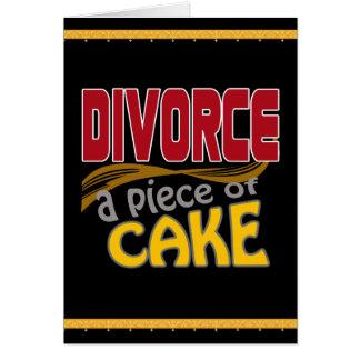 Scheidung - Stück des Kuchens Karte