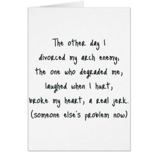 Scheidungs-Gedicht Karte