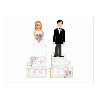 Scheidungs-Kuchen-Vorrat Postkarte