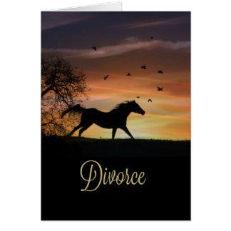 Scheidungs-Stützermutigungs-Karten-Pferdebetrieb Karte