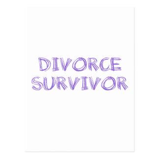 Scheidungs-Überlebender - 1 - Veilchen Postkarte