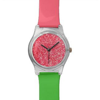 Schein-Art-Glitter Armbanduhr