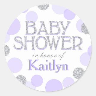 Schein besprühen Punkt-Babyparty-Aufkleber Runder Aufkleber