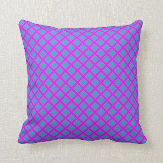 Schein-dunkelblaue lila Querdiamant-Form-Geschenke Kissen