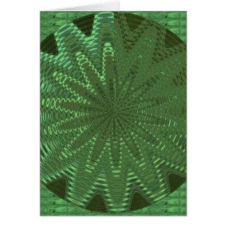 SCHEIN Smaragdgrün: Blume Chakra Anzeigen-Deko Karte