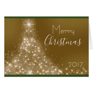 Schein-Weihnachtsbaum-Name-Jahr-Karte Karte