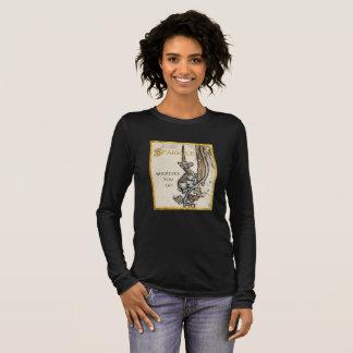 Schein, wohin Sie lange die Hülsen-Spitze der Frau Langarm T-Shirt