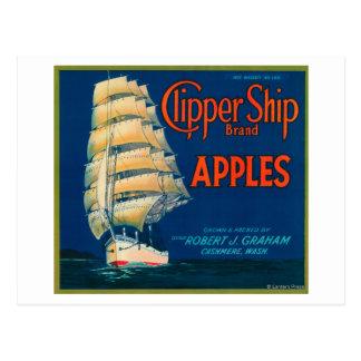 Scherer-Schiff Apple beschriften (Grün) - Postkarte