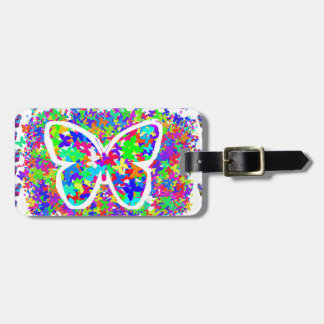 SCHERZT Liebe Butteryflies einfache, den DIY Knopf Kofferanhänger
