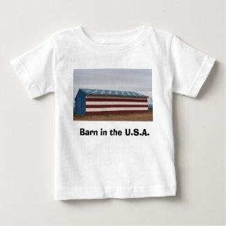 Scheune im USA-Baby-Shirt Baby T-shirt